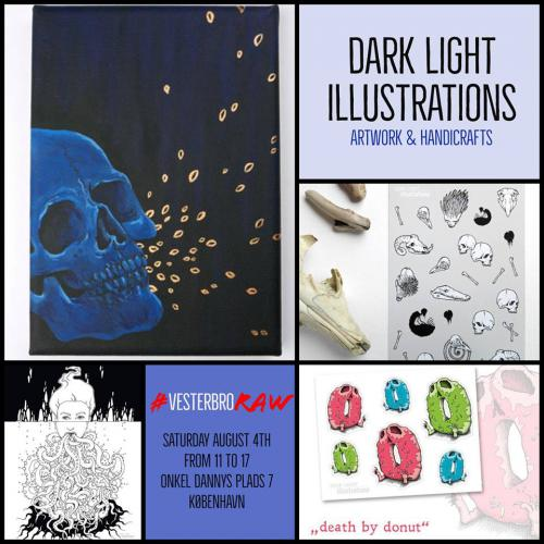 dark light illustrations